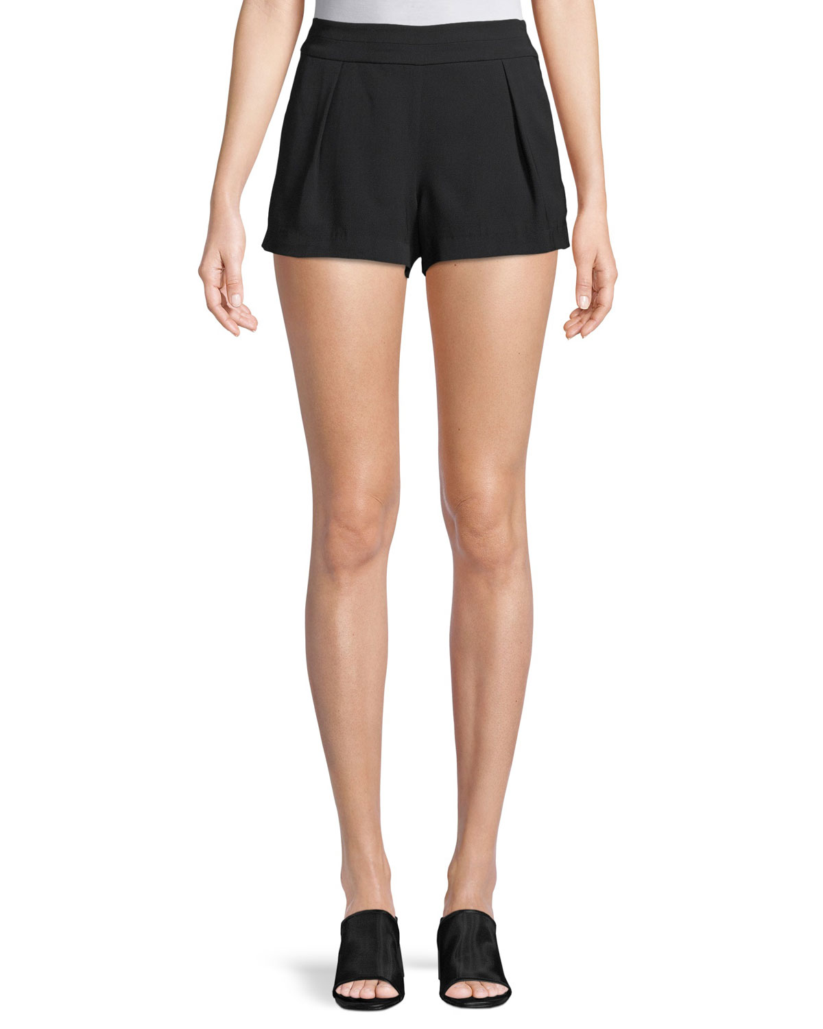 Alden Mid-Rise Pleated Shorts