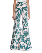 Dasha Tropical Wide-Leg Pants