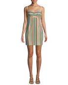 Nanette Lepore Atlantis Striped Mini Dress