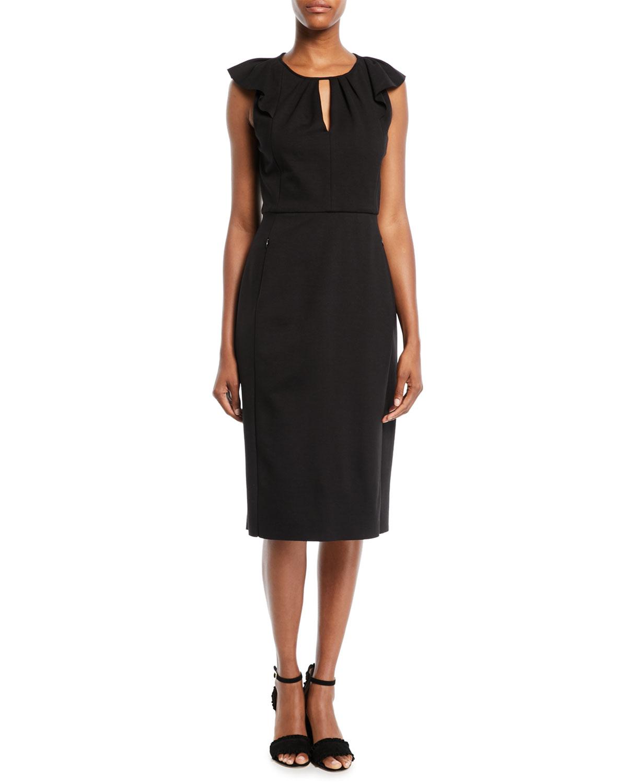 Adalynn Flutter-Sleeve Dress