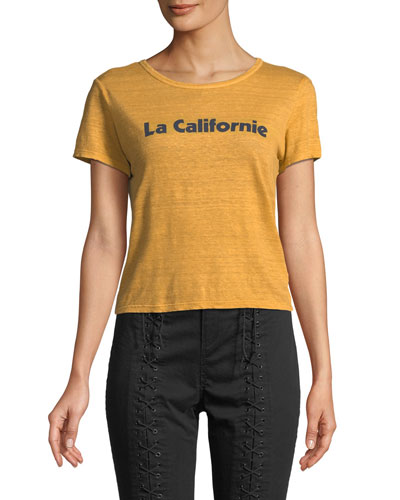 La Californie Graphic Crewneck Tee