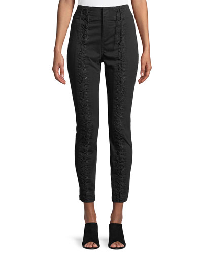 Kerrigan Lace-Up Skinny Pants