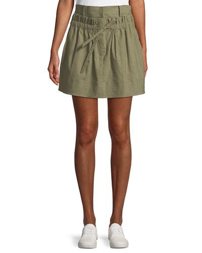 Kent High-Waist Tie-Front Skirt