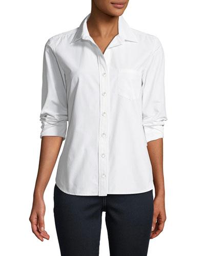 Alex Parachute Taffeta Button-Front Shirt