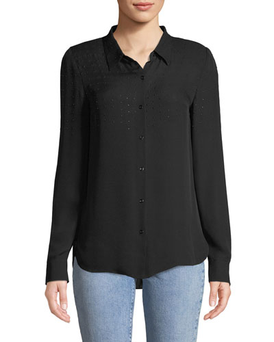 3f5b631f2bd591 Quick Look. Elie Tahari · Macklyn Embellished Silk Blouse. Available in  Black