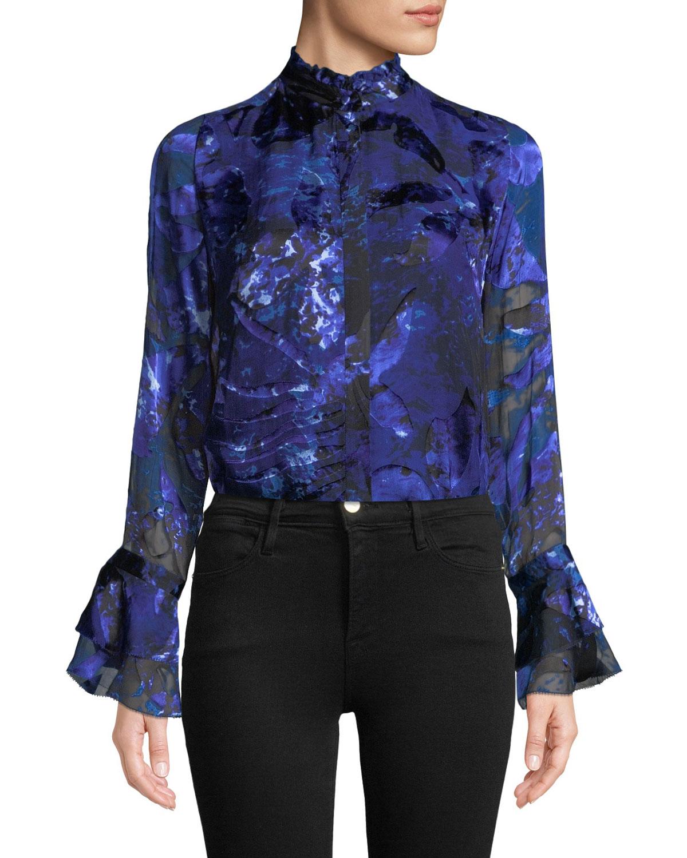 Teddie Bell-Sleeve Blouse