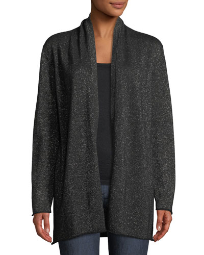 29972f13c847 Quick Look. Neiman Marcus Cashmere Collection · Open-Front Metallic Cashmere  Cardigan