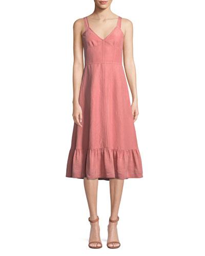 b07bf7b5c2 Cotton Linen Dress