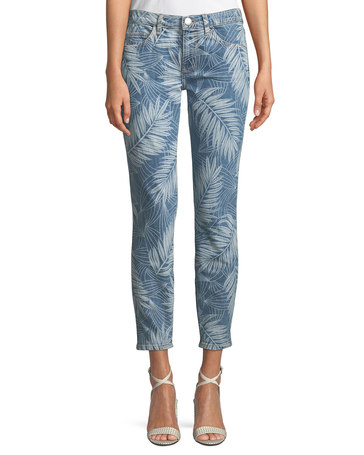The Stiletto Palm-Print Skinny Jeans