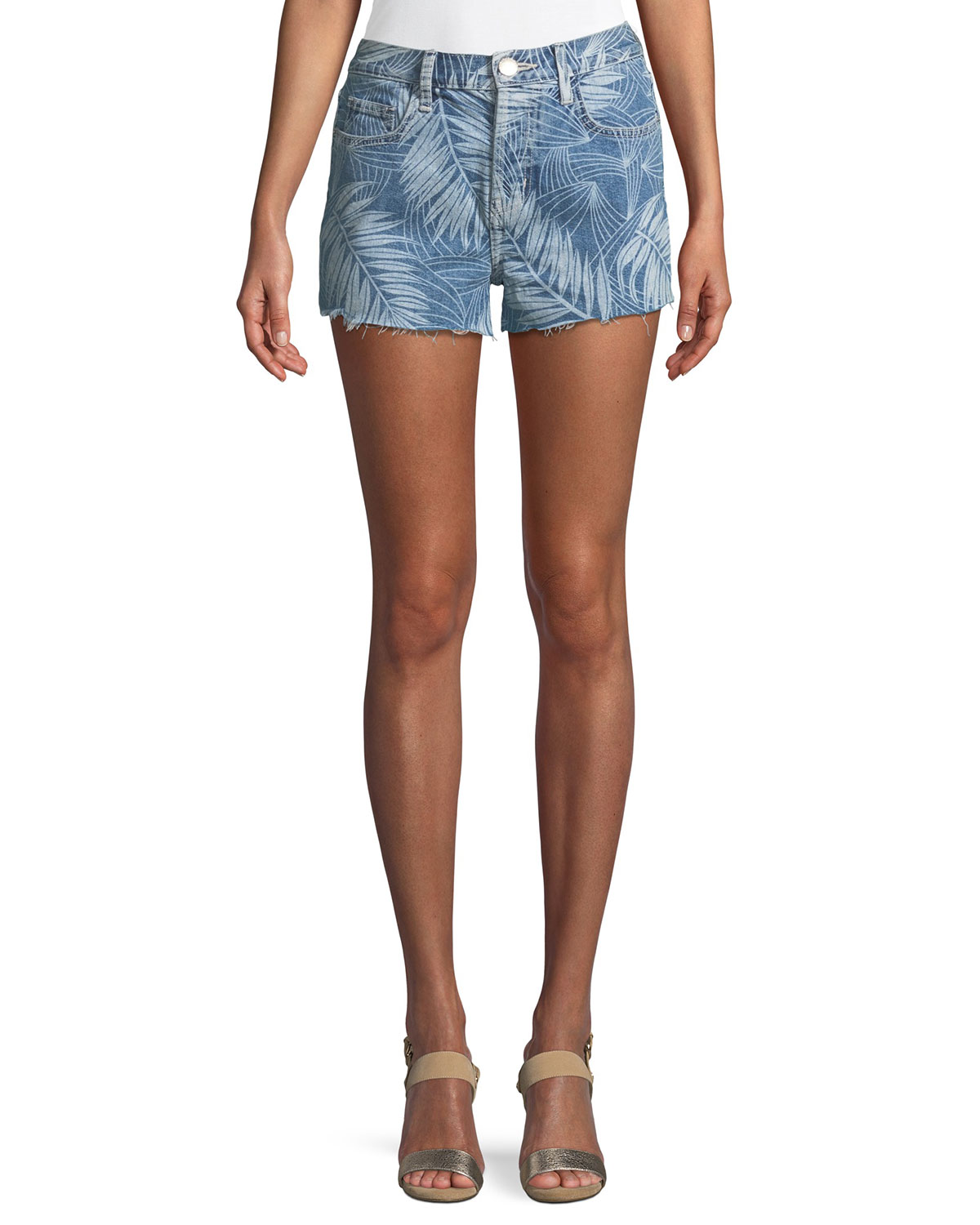 The Ultra High-Waist Palm-Print Cutoff Shorts