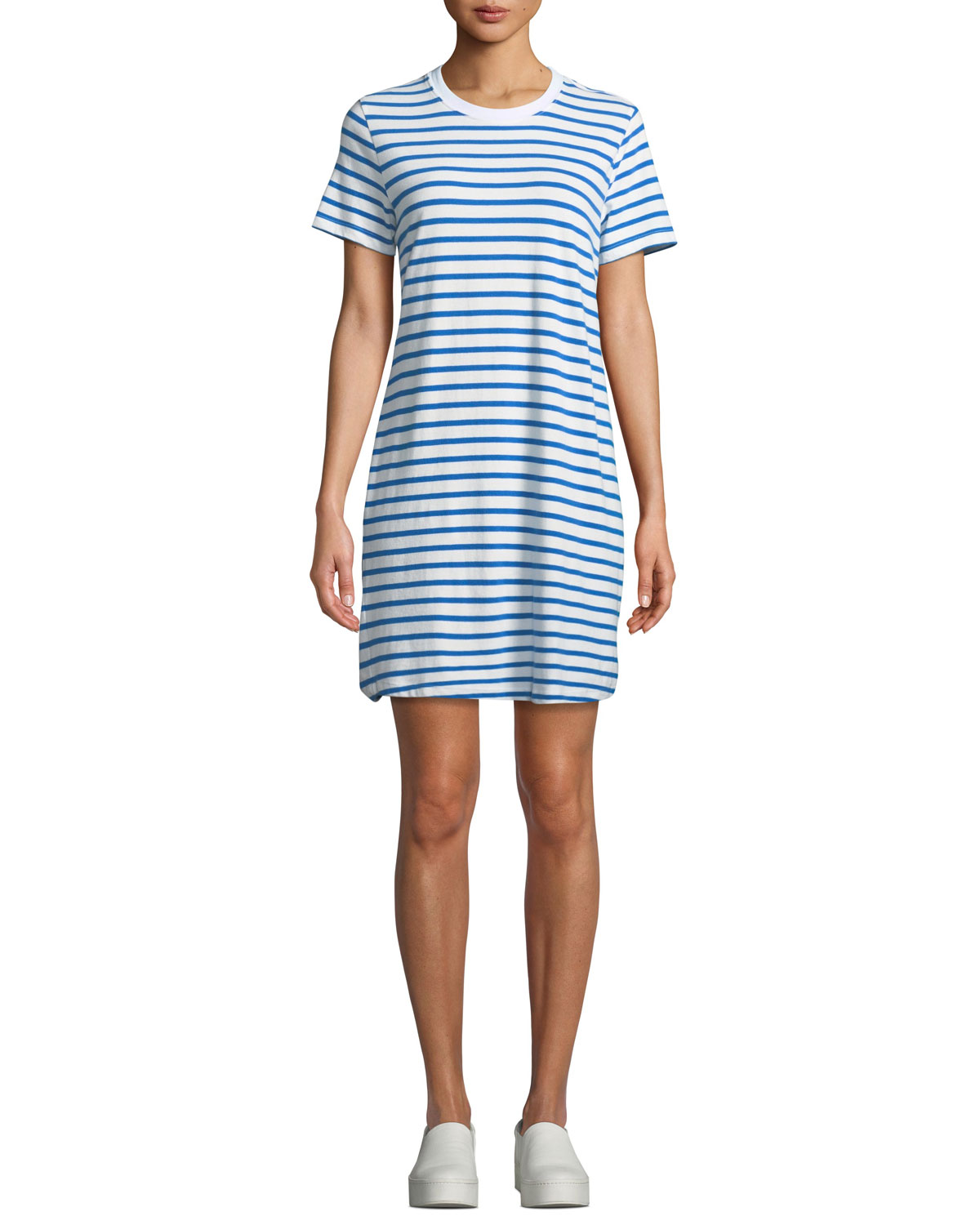 Beatnik Striped Crewneck Tee Dress