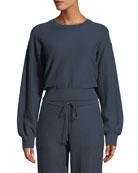Onia Lydia Crewneck Long-Sleeve Sweatshirt