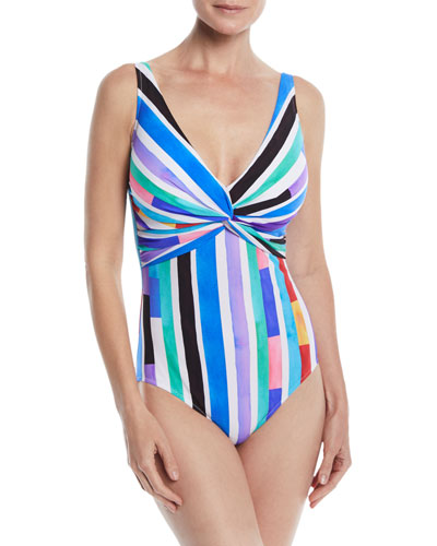 e4b9c5ace5 Quick Look. Gottex · Carnival V-Neck One-Piece Swimsuit