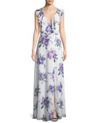 Fame and Partners The Remi Long Floral Georgette