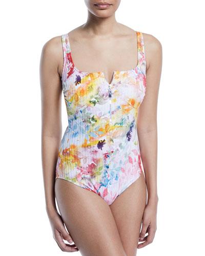 497c365d55 Nylon Spandex Zip Front Swimwear