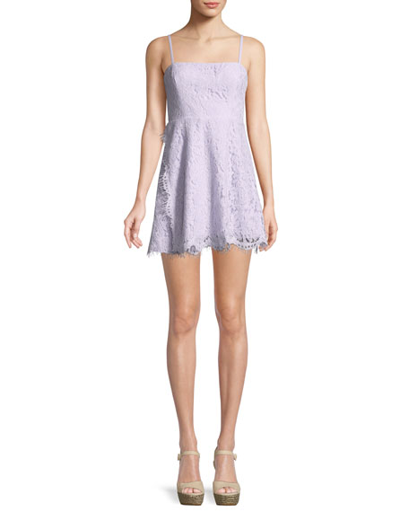 Fame and Partners The Fiona Corded Lace Mini Cocktail Dress