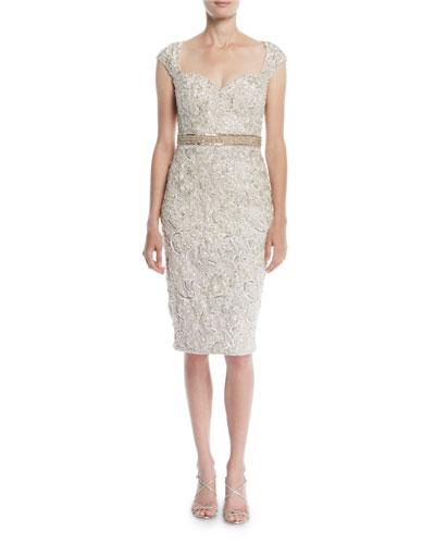 8b6aada0e9b Quick Look. Jovani · Embellished Lace Cocktail Dress ...