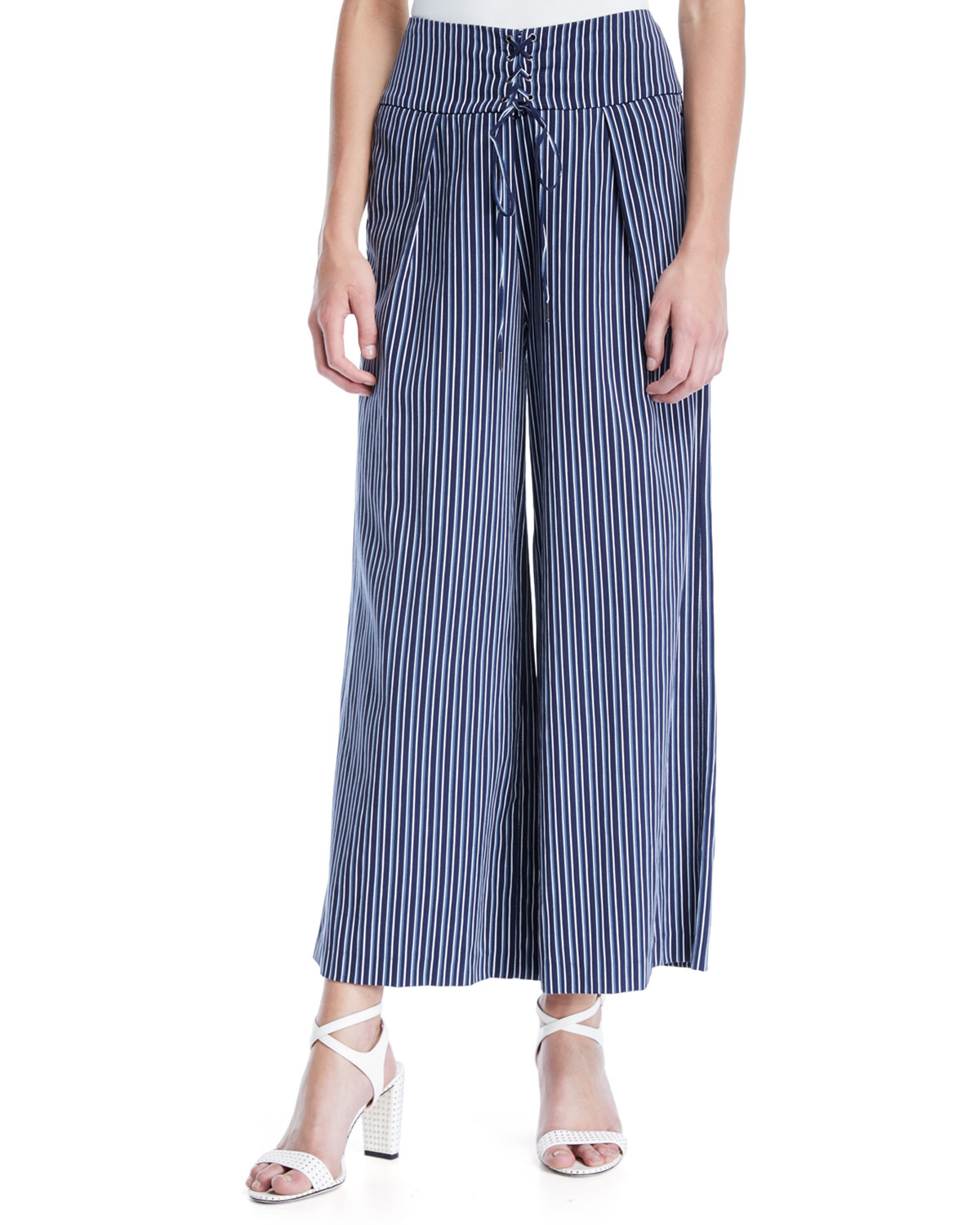 Charisma Striped Wide-Leg Pants