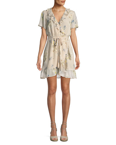 e625815f73f4 Quick Look. PAIGE · Cardamom Floral Silk Wrap Dress