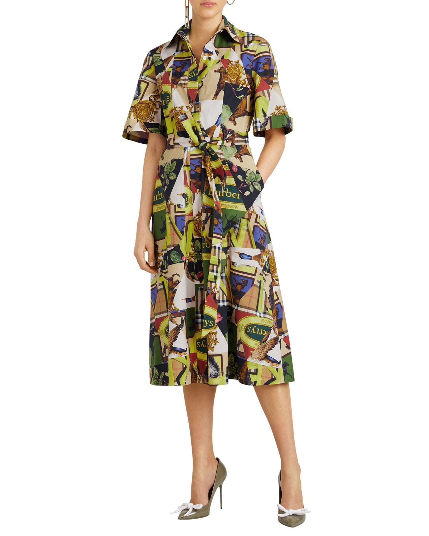 Burberry Clothing SANNA PRINTED MIDI-LENGTH TUNIC DRESS