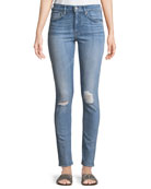 Levi's Made & Crafted 721 Distressed Skinny-Leg Jeans