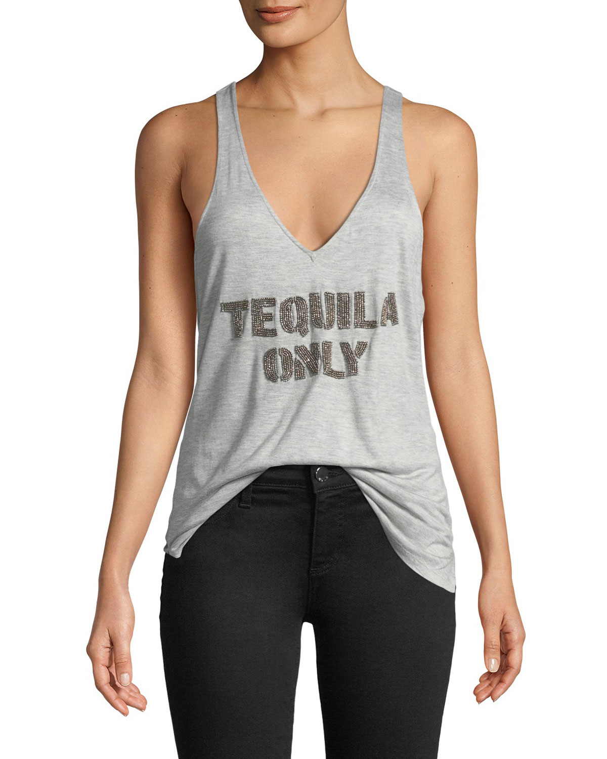 Tequila Only Beaded Racerback Tank