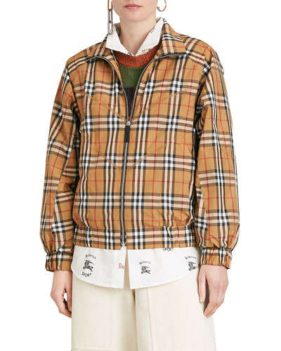 7a2daf26ba3 Quick Look. Burberry · Harrington Vintage Check Topstitch Jacket