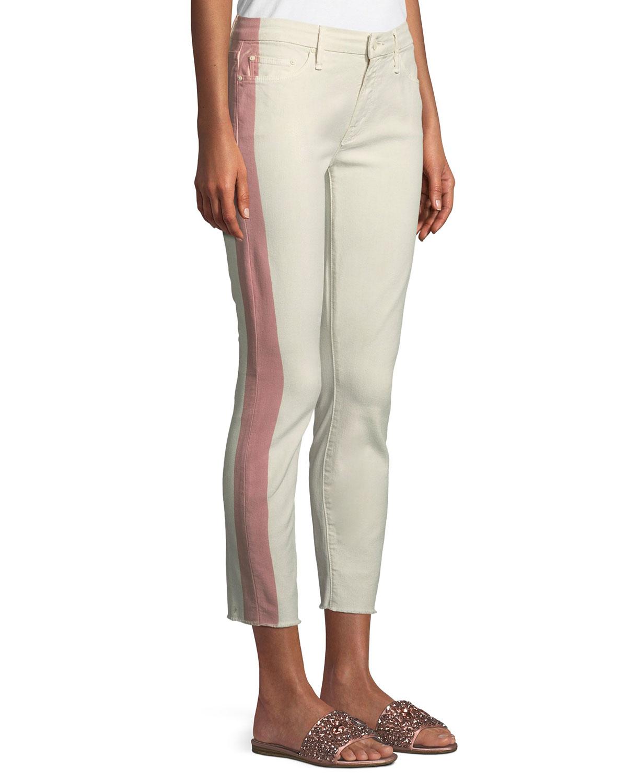 Looker Side-Stripe Ankle Skinny-Leg Jeans