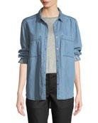 Eileen Fisher Cotton Fluff Two-Pocket Cardigan and Matching
