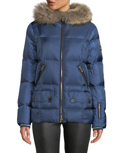 Miri Puffer Coat w/ Removable Fur Trim