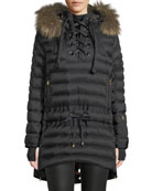 Bogner Debby Down Puffer Coat w/ Removable Fur