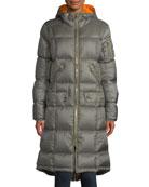 Bogner Malen Long A-Line Puffer Coat w/ Hood