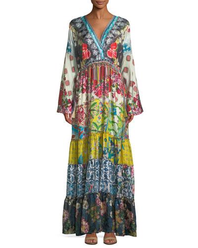 Petite Dibble Silk Georgette Drama Dress