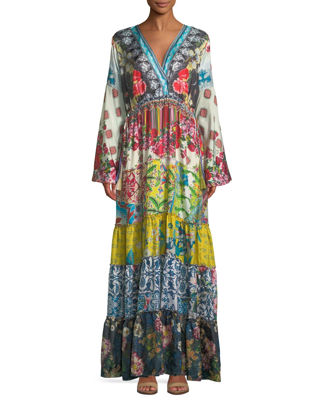 Dibble Silk Georgette Drama Dress