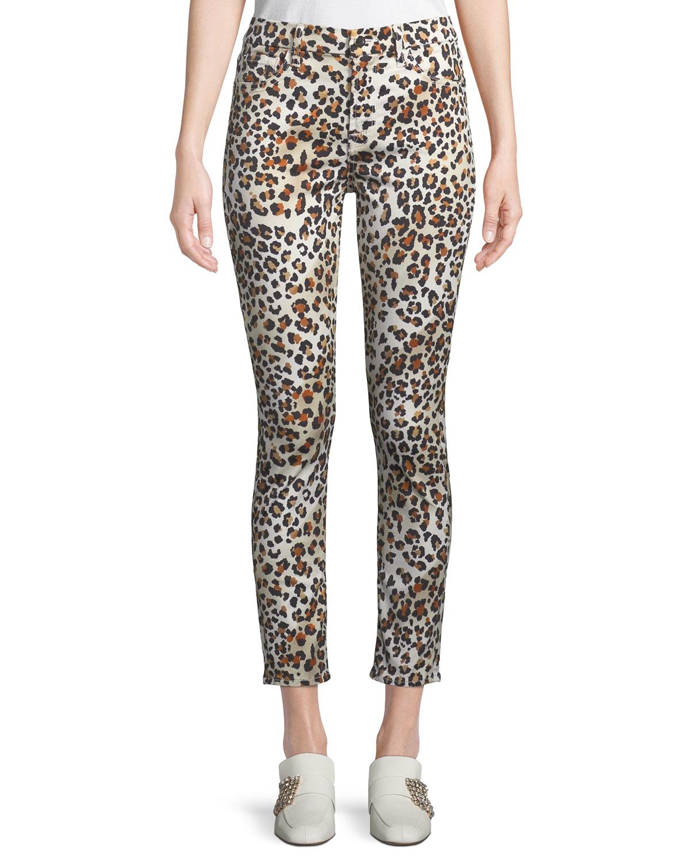 Sunkissed Animal-Print Ankle Skinny Jeans