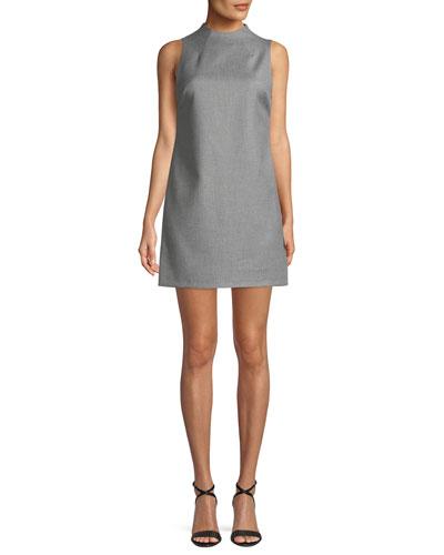 Coley Sleeveless Mock-Neck Mini Dress