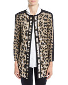 Misook Animal-Print Long Jacket and Matching Items &