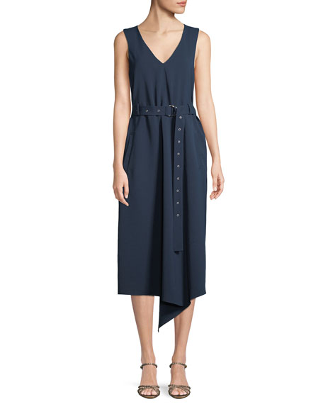 Nic Zoe Plus Size Boardwalk Sleeveless Faux Wrap Knit