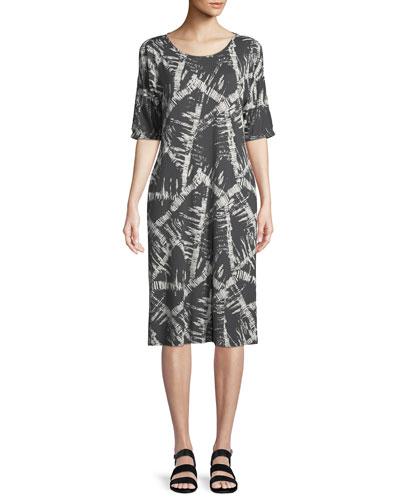Narcissi Graphic-Print Jersey Dress