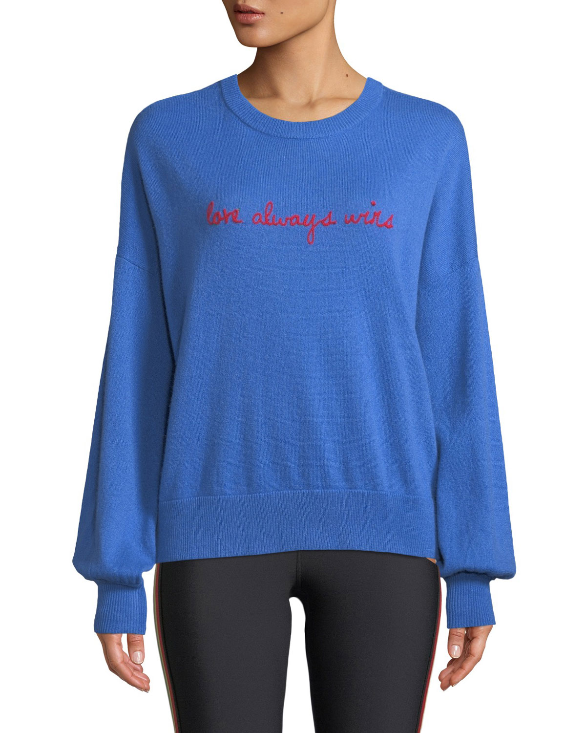 Love Wins Slogan Wool-Cashmere Pullover Sweater