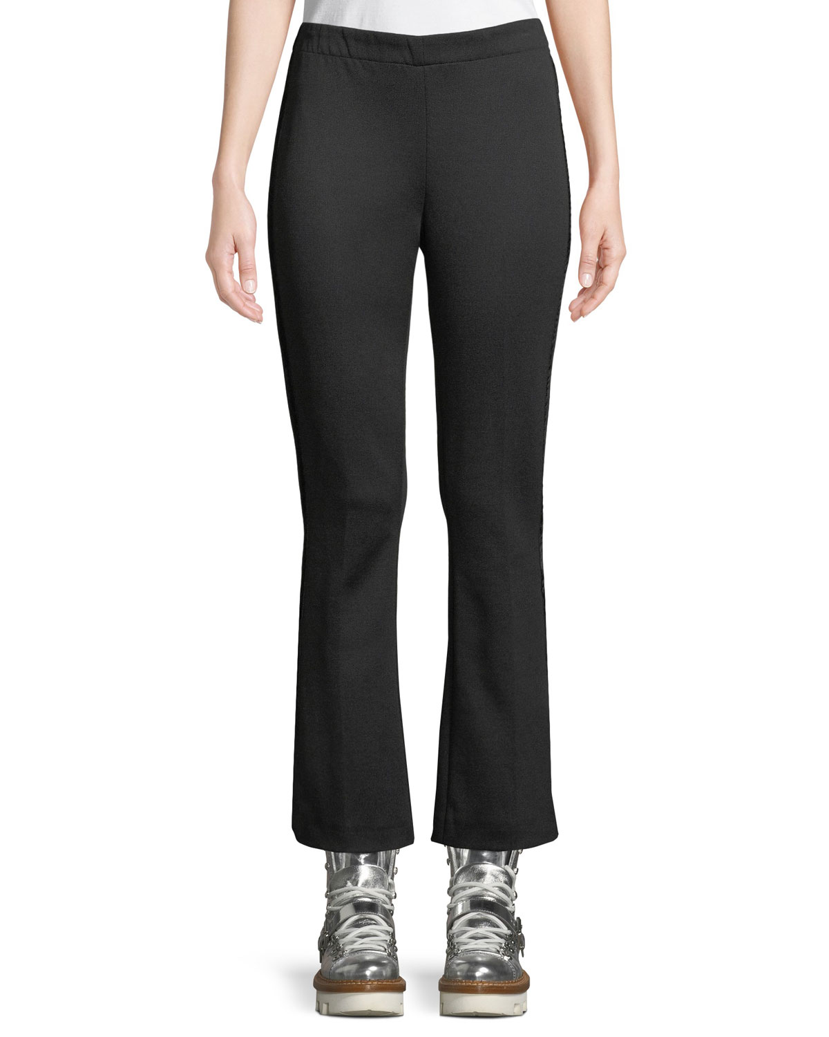 Tech Cropped Baby Boot-Cut Pants