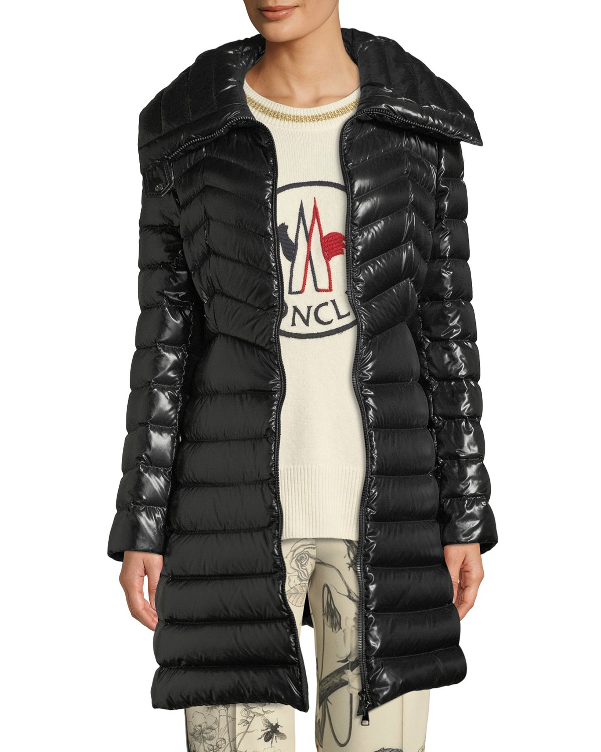 Faucon Fitted Puffer Coat in Brown