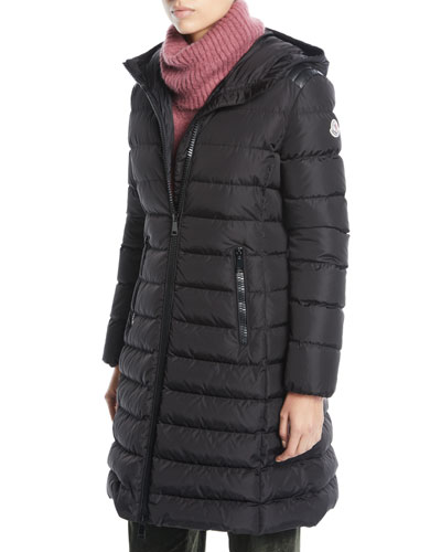 c9f78dbcc934 Quick Look. Moncler · Taleve Zip-Front Hooded Mid-Length Quilted Puffer  Jacket