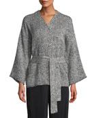 Eileen Fisher Bracelet-Sleeve Kimono Short Jacket and Matching
