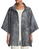 Eileen Fisher Cosmos Jacquard 3/4-Sleeve Jacket