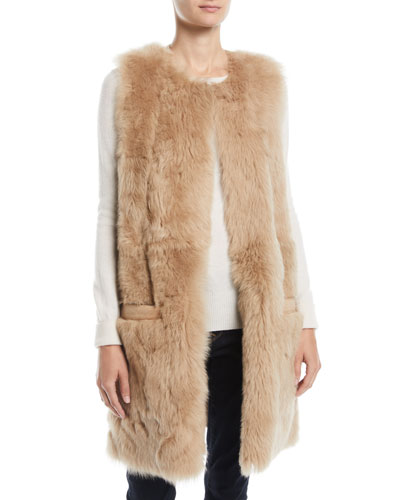 Reversible Leather & Lamb Fur Vest