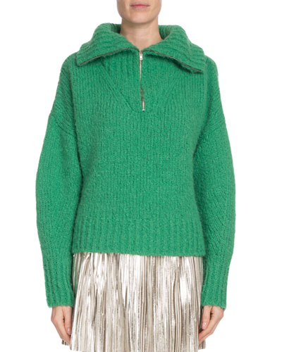 Saky Wool-Blend Pullover Sweater