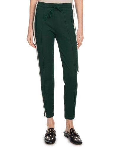 Dario Sporty-Knit Drawstring Jogger Pants