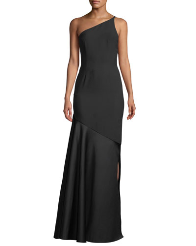 Violeta One-Shoulder Split Maxi Dress