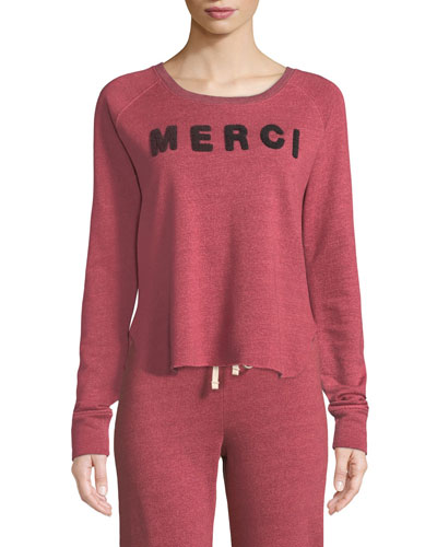Merci Graphic Raglan Sweatshirt